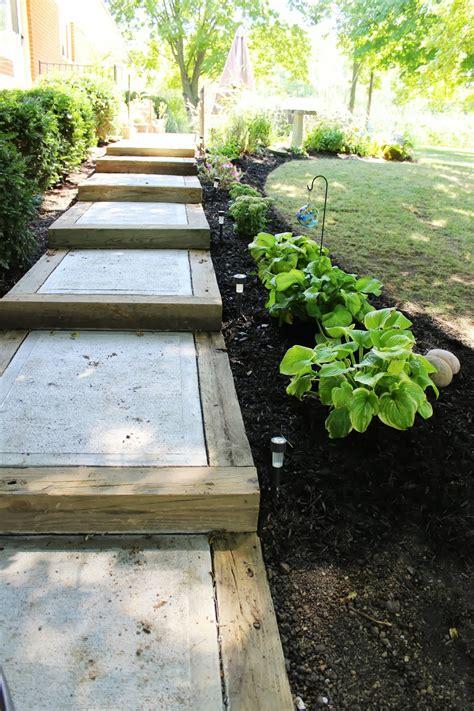 diy backyard pathway ideas cement steps concrete steps