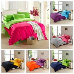 King Size Bedding Bright Colors 100 Cotton Size Solid Color Bedding