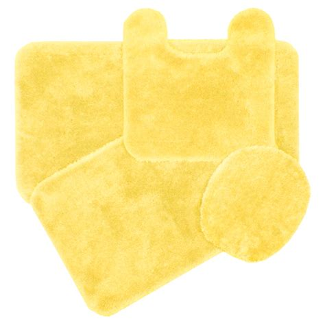 royale butter cream yellow bath rug ensemble bedbathhome com