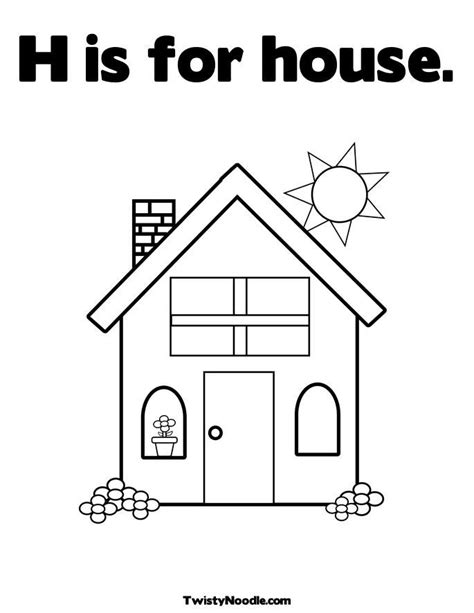 house coloring pages for preschoolers house coloring page for preschool kids coloring page gallery