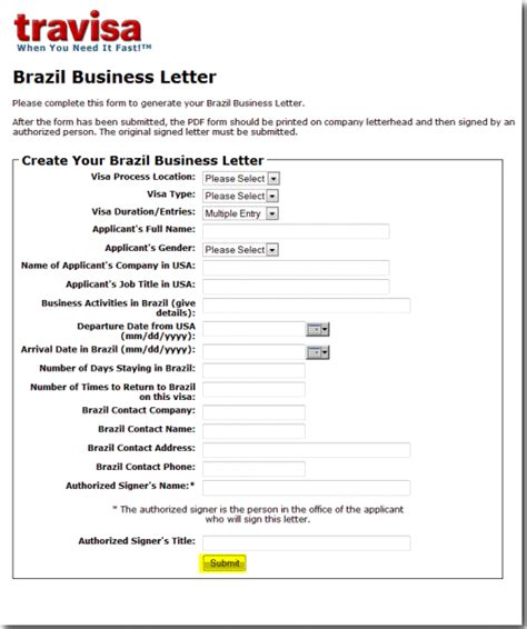 Business Introduction Letter For Visa Brazil Business Letters