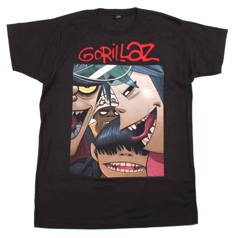 T Shirt Gorillaz 6 gorillaz faces t shirt