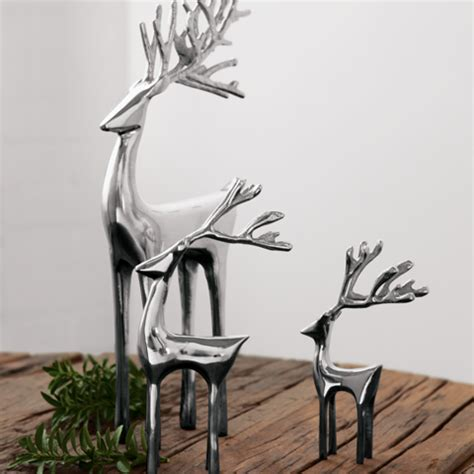 silver forest reindeer christmas olive cocoa