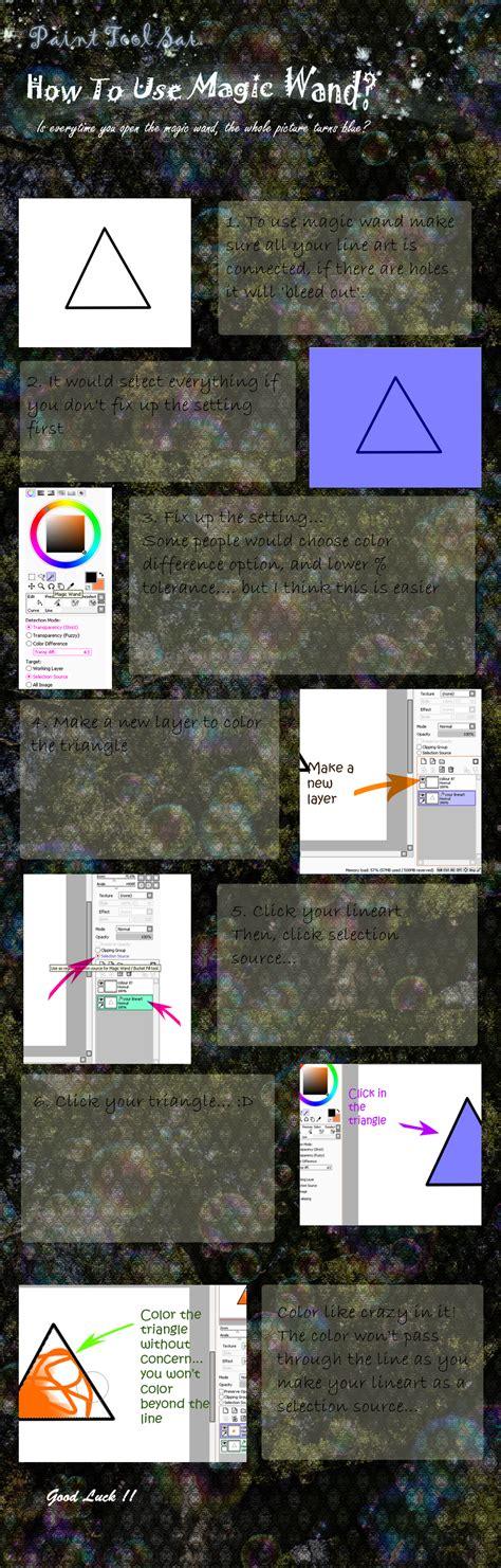 paint tool sai tutorial magic wand how to use magic wand in paint tool sai by syakilah on