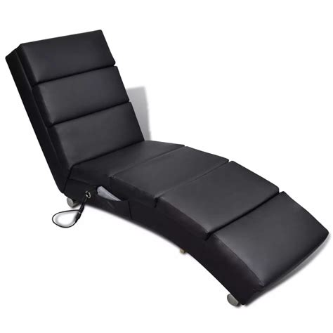 Black Artificial by Black Artificial Leather Electric Chair Vidaxl Co Uk