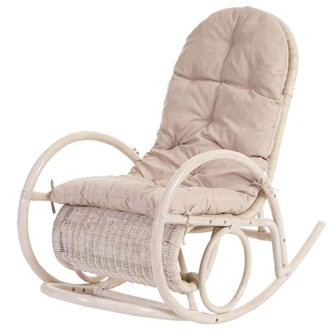 sedie a sedia a dondolo esmeraldas legno rattan 115x58x101cm