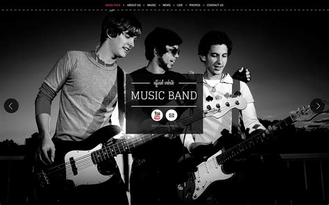 Music Band Wix Website Template 46255 Band Website Templates