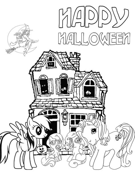 my little pony halloween coloring page free coloring pages of my halloween book