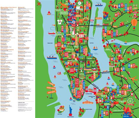 map of the us new york new york city tourist attractions map images