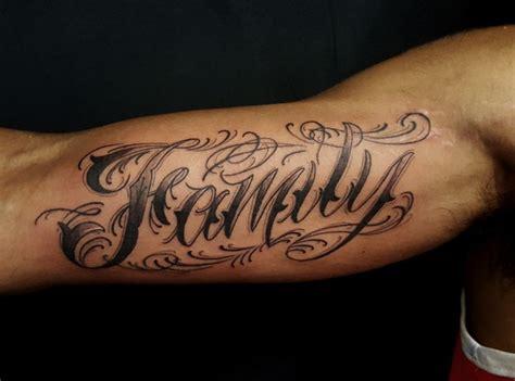 tattoo design text text biceps tattoo design