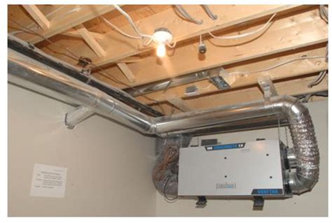basement air exchanger heat recovery ventilator hrv cmhc
