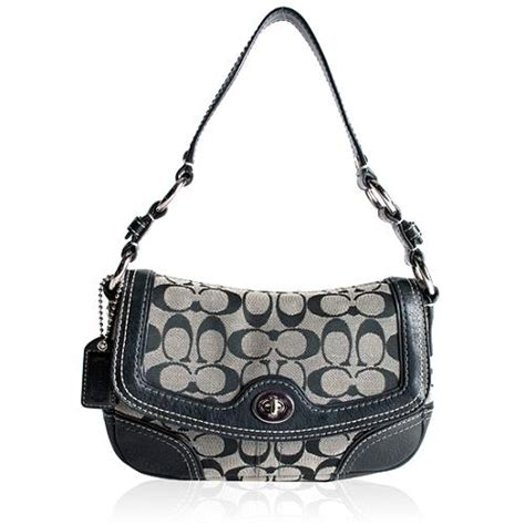 Coach Chelsea Small Flap by Coach Chelsea Signature Flap Shoulder Handbag