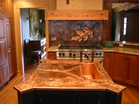 Kitchen Backsplashes With White Cabinets by Chicago Driveway Gates Custom Metal Fabrication Copper