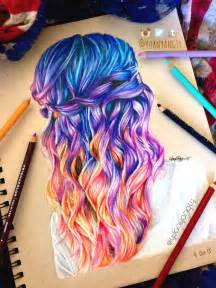 colored pencil hair hair colored pencil drawing imgur colour pencil