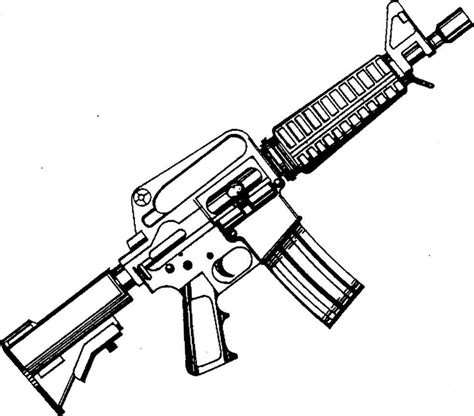 sniper gun coloring page free coloring pages of m4 carbine