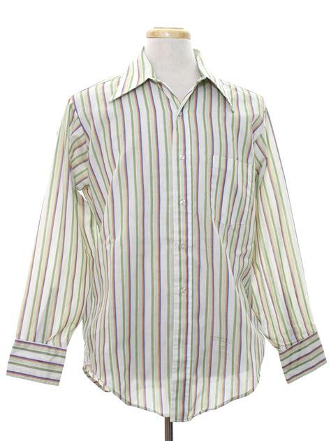 Valino Avocado Tie Front retro 1970 s shirt heusen 417 70s heusen 417 mens white background cotton
