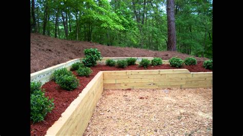 wooden garden walls landscape inc treated timber retaining wall