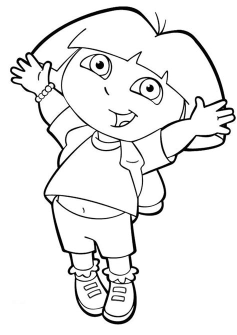 dora the explorer coloring pages the dora activity