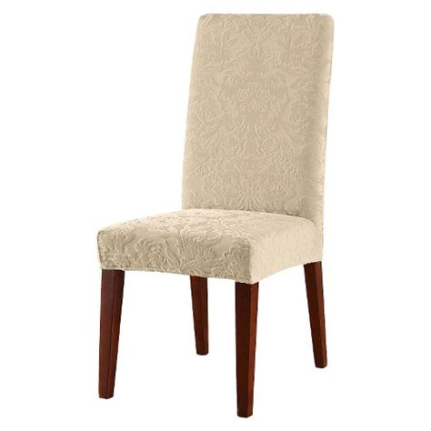 jacquard paddy stretch dining room chair cover hotel sure fit stretch jacquard damask short dining room chair
