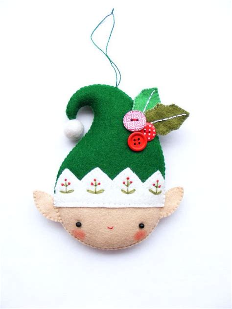 pattern christmas elf felt christmas ornament