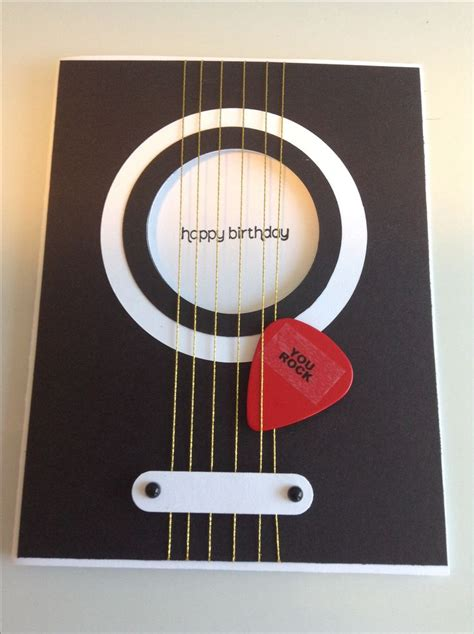 Guitar Cards - 25 best ideas about birthday cards on diy