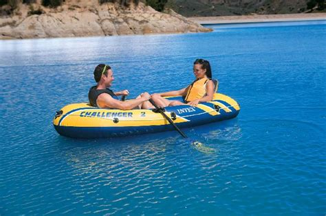 blow up boat oars intex challenger 2 inflatable boat with oars two person