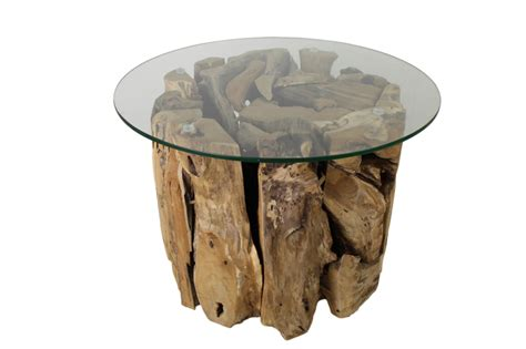 Salontafel Glas Rond by Salontafel Rond Met Glas Teak Root Teak