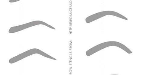 eyebrow templates printable printable eyebrow stencils pin eyebrow stencils printable