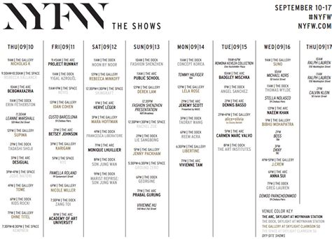 mercedes fashion week dates mercedes new york fashion week schedule