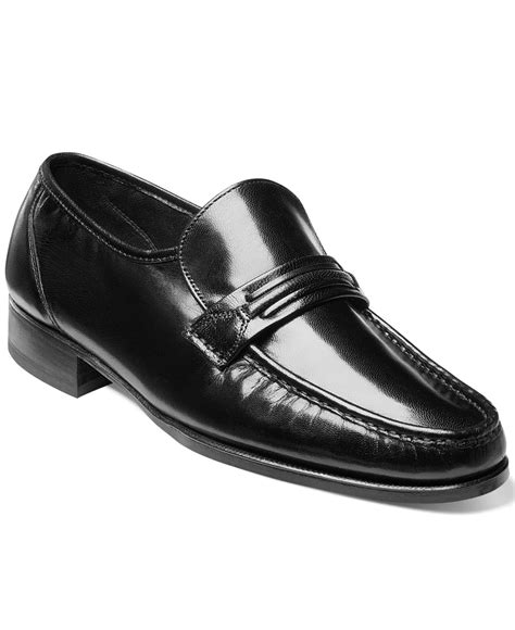 florsheim loafers for florsheim como moc toe loafers in black for lyst