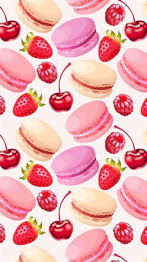 Girly Macaron Wallpaper | wallpaper iphone best backgroaunds pinterest