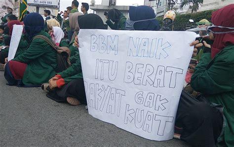 Harga Samsung A8 2018 Di Medan mahasiswa unjuk rasa tolak kenaikan harga bbm
