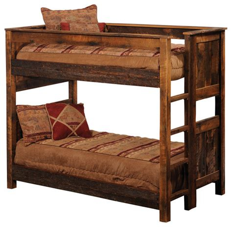 wood bunk beds rustic reclaimed wood bunk beds barnwood full over full