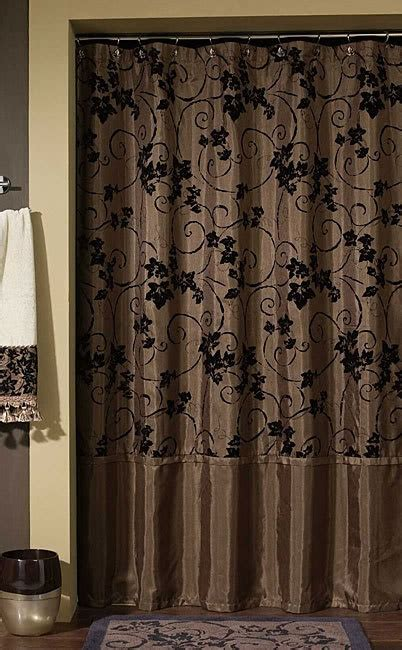 chocolate brown shower curtains glamorous rich brown shower curtain brown pinterest