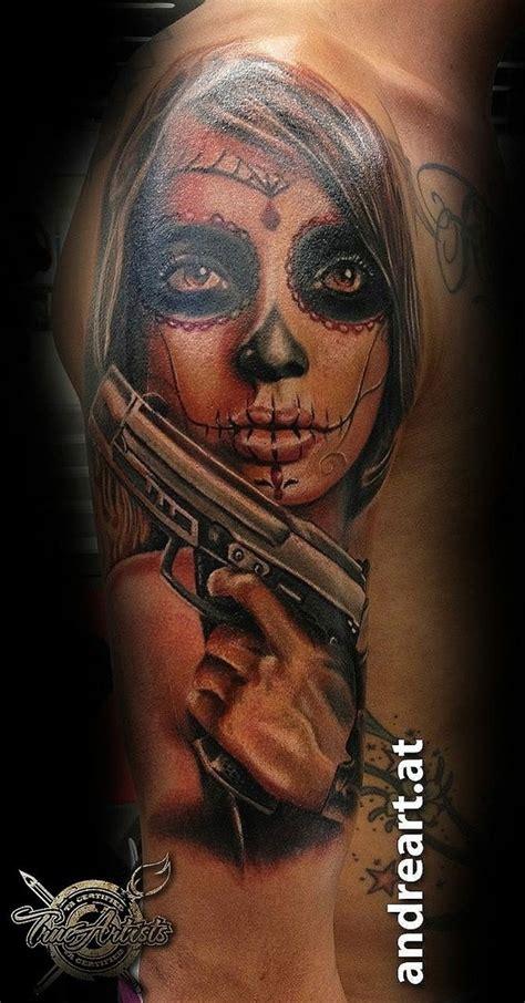 zombie tattoo gun la catrina gun tattoo la catrina pinterest la