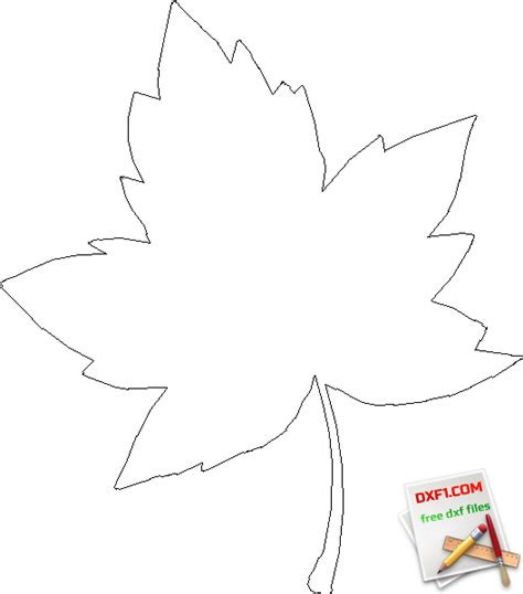 leaf pattern dxf maple leaf free dxf files free cad software dxf1 com
