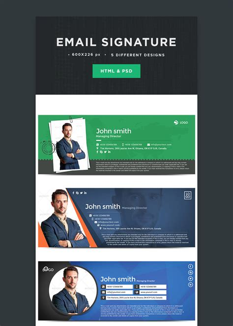 professional email signatures template esignatures on behance