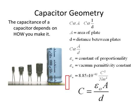 capacitance of parallel plate capacitor depends on ch 20 electric potential and electric potential energy ppt