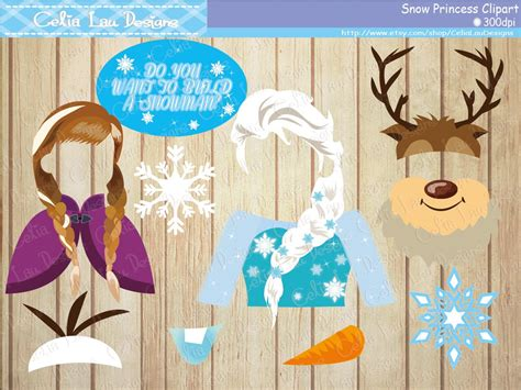 printable photo booth props frozen snow princess frozen props for frozen birthday party frozen
