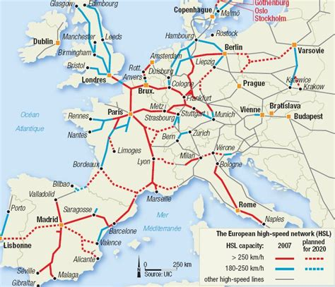 rail map of europe trains europe