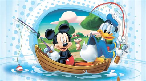 mickey mouse boat mickey mouse and donald duck fishing with boat disney