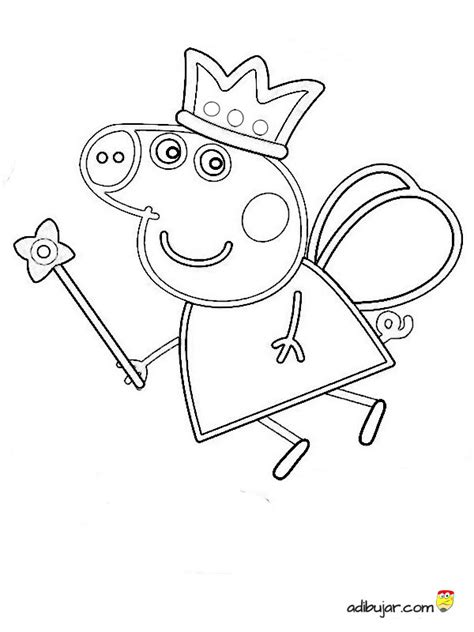 dibujos para pintar pepa 91 dibujo colorear peppa pig ada fairy peppa pig