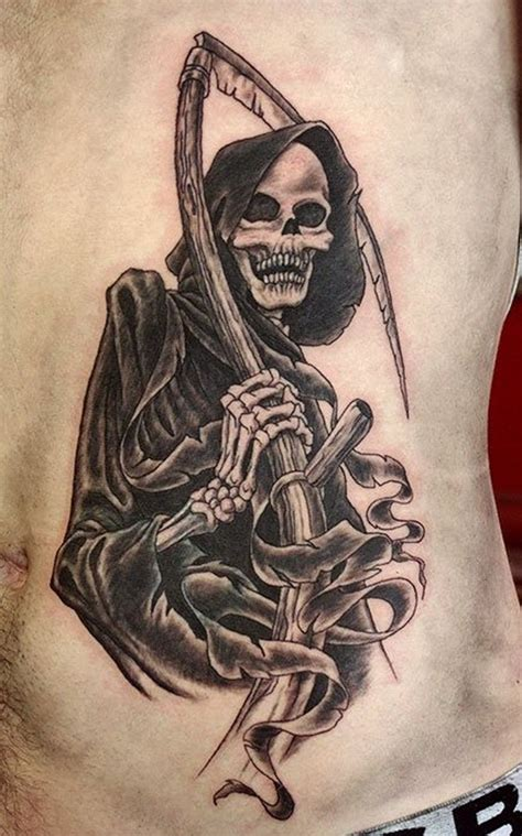 grim reaper tattoos 35 cool cryptic grim reaper tattoos
