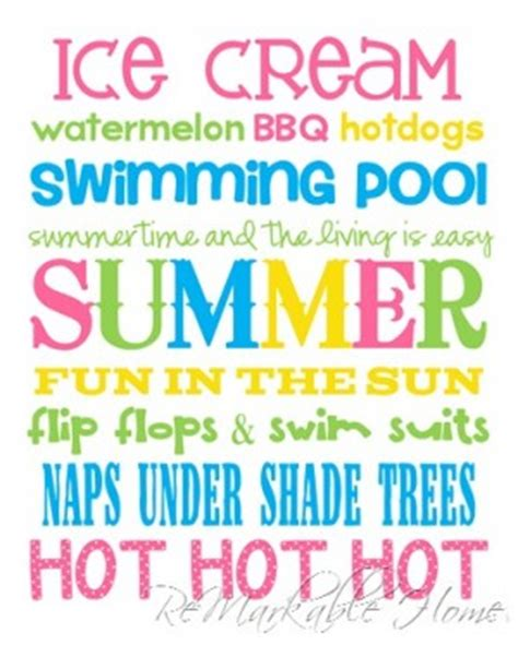 printable summer quotes quotes about summer fun quotesgram