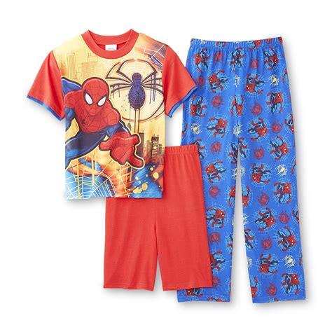 pajama shorts for boys marvel spider boy s pajama shirt shorts