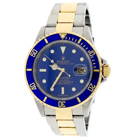 Rolex Submariner Automatic 2 rolex submariner date 2 tone 18k yellow gold stainless steel blue 40mm automatic mens