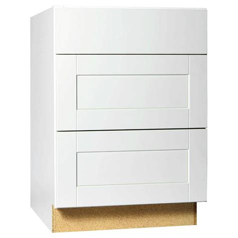 Kitchen Base Cabinet Drawers Hton Bay Shaker Assembled 24x34 5x24 In Drawer Base Kitchen Cabinet With Bearing Drawer