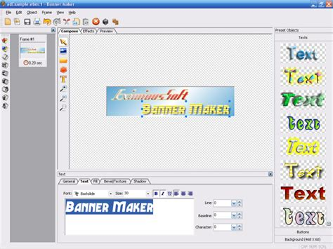 banner design generator eximioussoft banner maker 3 00 download software full free