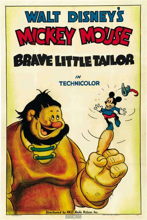 misteri film mickey mouse brave little tailor 1938 mickey mouse walt disney