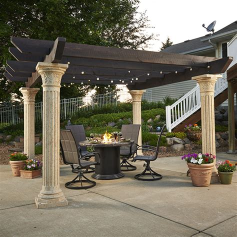 tuscan pergola the tuscany pergola by the outdoor greatroom company